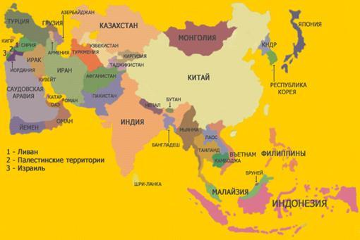 Карта Азии [15,89]