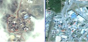 Район катастрофы в Японии