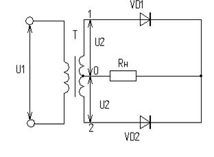 Схема выпрямления со средней точкой 718