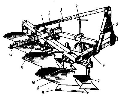 Навесной четырехкорпусный плуг ПЛН - 4 - 35
