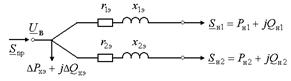 Упрощенная схема замещения трансформатора с расщеплённой обмоткой НН