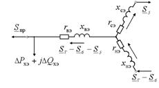 Упрощенная эквивалентная схема замещения трёхобмоточного трансформатора