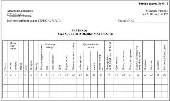Карточка Складского Учета Бланк Украина - фото 8