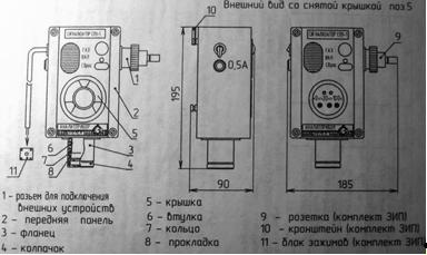 ОРТ-СО-01 сигнализатор оксида углерода