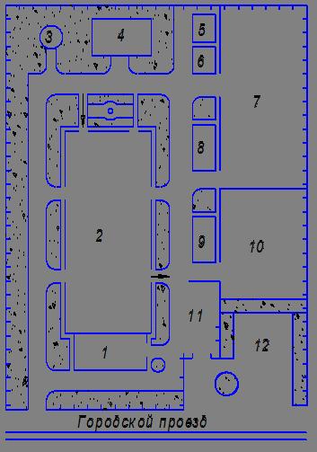 Схема авторемонтного завода
