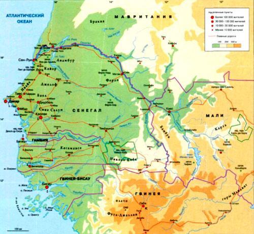 Где находится река сенегал в африке
