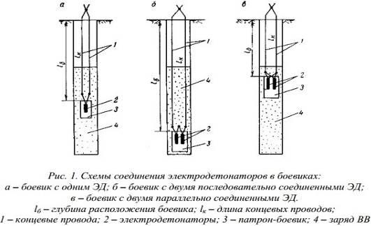 Схемы электродетонатор