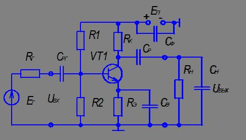 Двухкаскадный резисторный усилитель схема 149