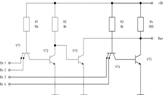 На рисунке 1 представлена принципиальная схема