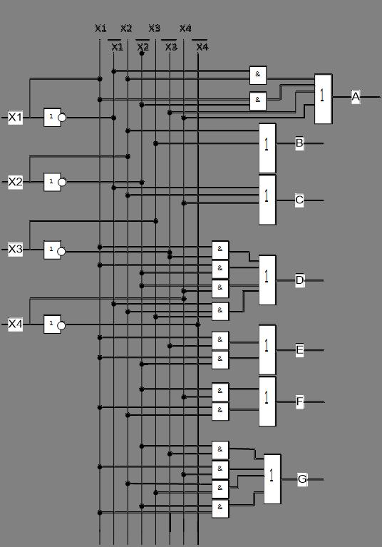 Преобразователи кодов схема