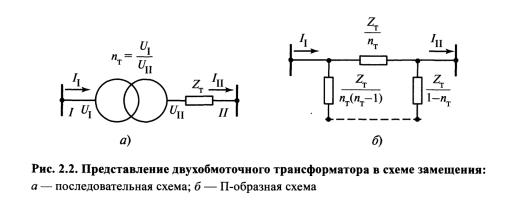 Схема замещение двухобмоточного трансформатора4