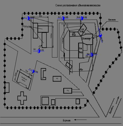 Схема расположения здания на местности